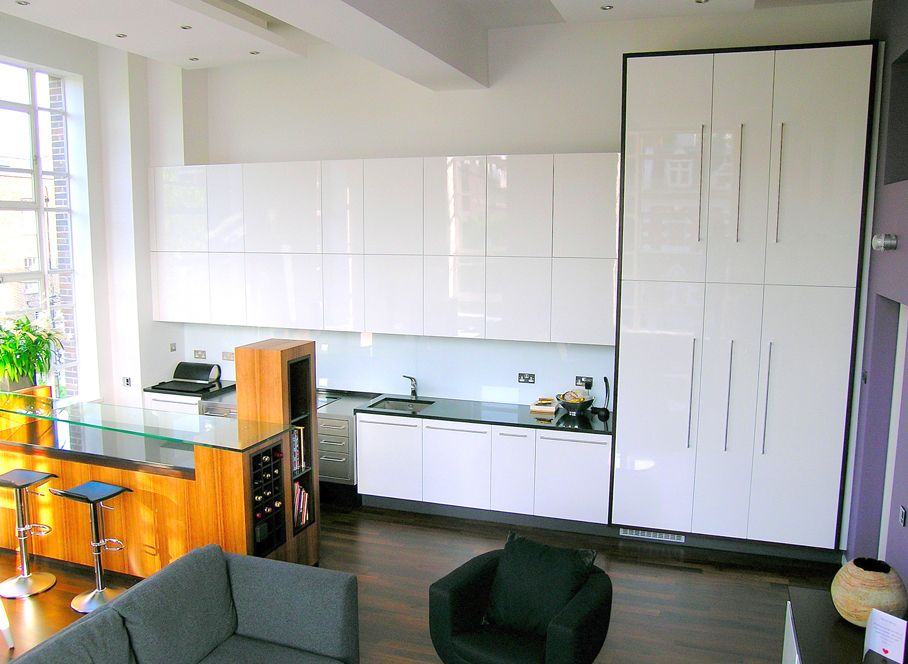 Andrew hall furniture for White gloss tall kitchen units