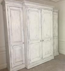 Wardrobe installed. With a heavily distressed chalk paint and waxed finish.